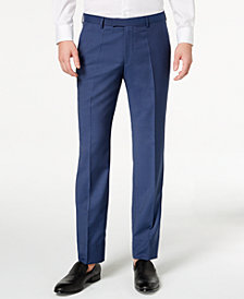 HUGO Men's Modern-Fit Navy Micro-Tic Suit Pants