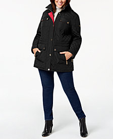 MICHAEL Michael Kors Plus Size Hooded Quilted Anorak Coat