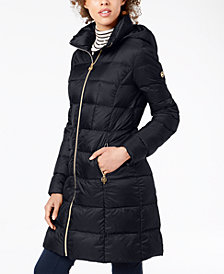 MICHAEL Michael Kors Petite Hooded Packable Puffer Coat