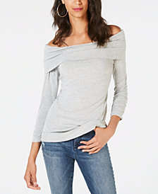 I.N.C. Off-The-Shoulder 3/4-Sleeve Top, Created for Macy's