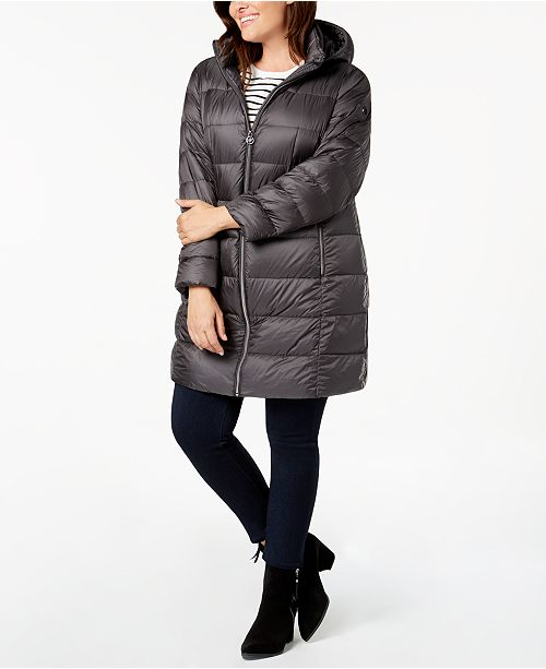 1bda3ee093 Michael Kors Plus Size Hooded Puffer Coat   Reviews - Coats - Women ...