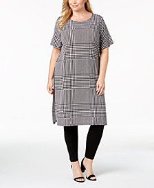 Calvin Klein Plus Size Printed Short-Sleeve Tunic