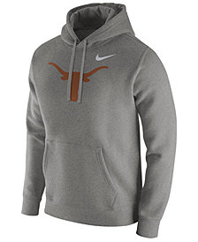 Nike Men's Texas Longhorns Cotton Club Fleece Hooded Sweatshirt