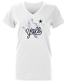 Authentic NFL Apparel Women's Dallas Cowboys Kit State Foil T-Shirt