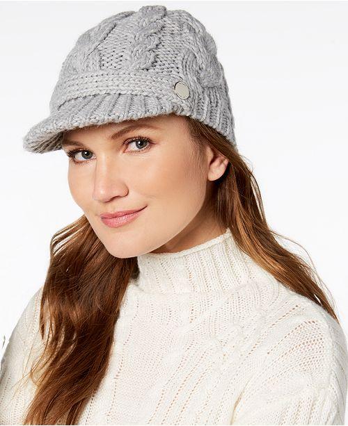 Michael Kors Pointelle Cable-Knit Peak Hat - Handbags   Accessories ... 49bdfb218a8