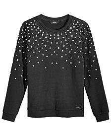 GUESS Big Girls Studded Sweatshirt