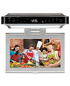"iLive Bluetooth Under Cabinet Music System, 10"" LCD display, TV, DVD"