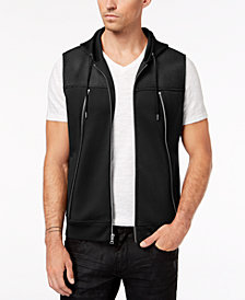 I.N.C. Men's Zip-Front Hooded Vest, Created for Macy's