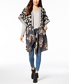 Steve Madden In Full Bloom Draped Kimono