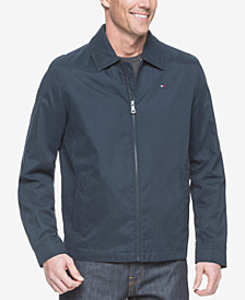 Tommy Hilfiger Men's Classic Front-Zip Micro-Twill Jacket