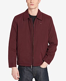 Men's Classic Front-Zip Filled Micro-Twill Jacket