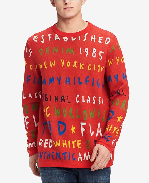 Tommy Hilfiger Tommy Hilfiger Mens Graffiti Sweater Created For