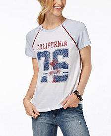 Rebellious One Juniors' Cotton California Graphic T-Shirt