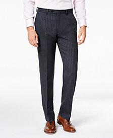 Lauren Ralph Lauren Men's Classic-Fit UltraFlex Stretch Charcoal/Blue Pinstripe Suit Pants