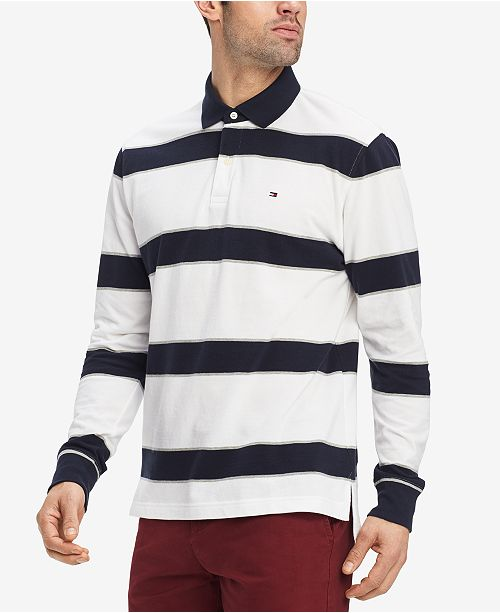 cb667274a Tommy Hilfiger Men's King Striped Classic Fit Polo Shirt, Created for Macy's