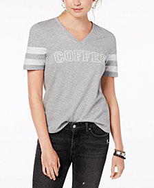 Rebellious One Juniors' Cotton Coffee Graphic-Print T-Shirt