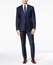 DKNY Men's Modern-Fit Navy Pinstripe Suit Separates