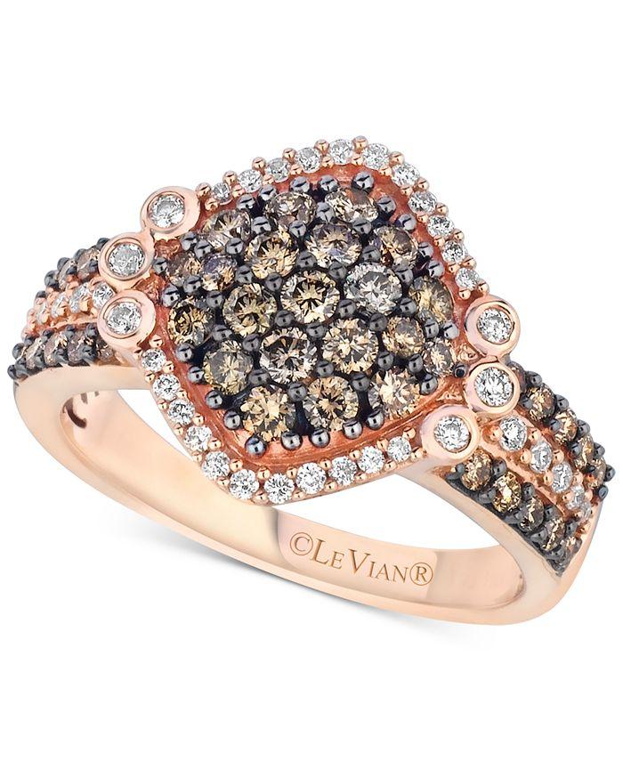 Le Vian - Diamond Cluster Ring (1-1/8 ct. t.w.) in 14k Rose Gold