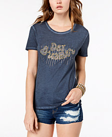 GUESS Daydreamer Beaded-Graphic T-Shirt