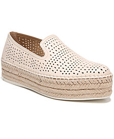 Franco Sarto Elliot Perforated Flatform Espadrilles