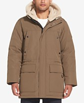 66b7eb18130cd Sean John Men's Long Hooded Bomber Jacket