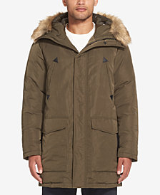 Sean John Men's Hooded Parka with Faux-Fur Trim