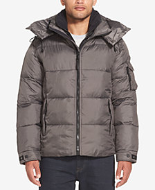 Sean John Men's Shiny Hooded Puffer Jacket