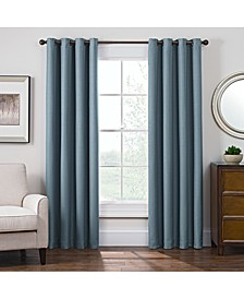 Antique Satin Room-Darkening Grommet Window Panel Collection