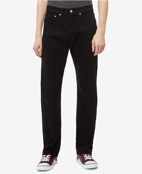 Calvin Klein Jeans Men's Relaxed Straight-Fit Black Jeans