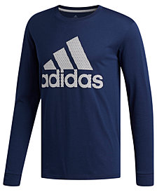 adidas Men's ClimaLite® Logo Long-Sleeve T-Shirt