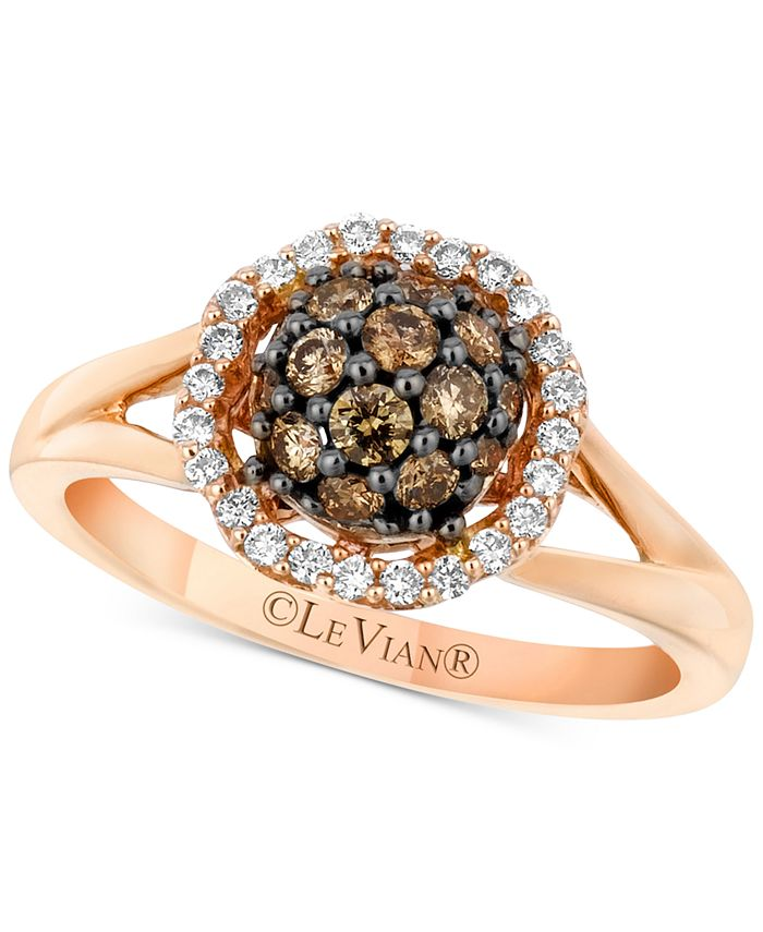 Le Vian - Diamond Halo Cluster Ring (5/8 ct. t.w.) in 14k Rose Gold