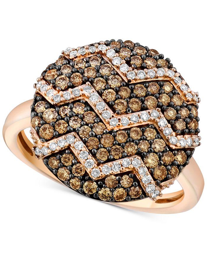 Le Vian - Diamond Zigzag Ring (9/10 ct. t.w.) in 14k Rose Gold