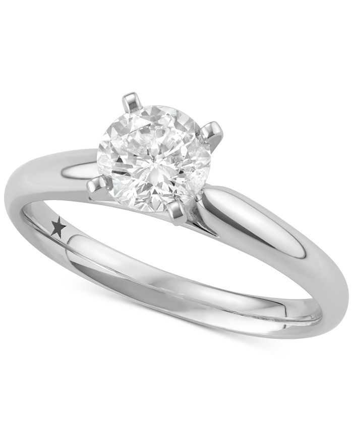 Macy's Star Signature Diamond - Diamond Solitaire Engagement Ring (3/4 ct. t.w.) in 14k White Gold