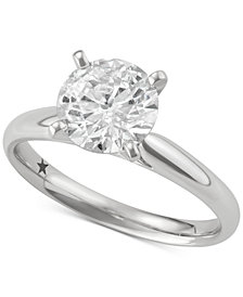 Macy's Star Signature Diamond Solitaire Engagement Ring (4 ct. t.w.) in 14k White Gold