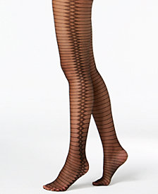 I.N.C. Jacquard-Print Tights, Created for Macy's