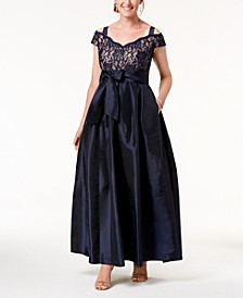 Lace Cold-Shoulder Gown