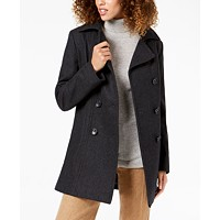 Deals on Nautica Double-Breasted Hooded Peacoat