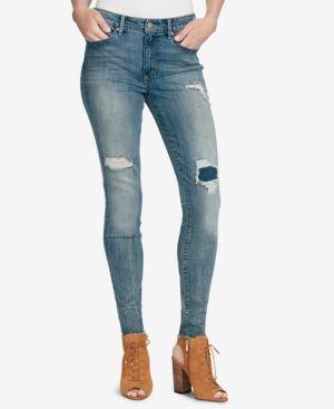 Jessica Simpson Juniors' Portola Curvy High-Rise Skinny Jeans 7772093