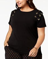 4c5a06627b0 MICHAEL Michael Kors Plus Size Lace-Up T-Shirt