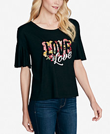 Jessica Simpson Juniors Wanderlust Graphic T-Shirt