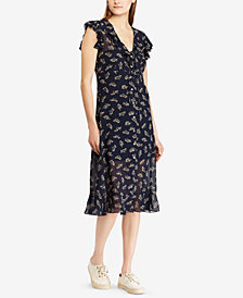 Polo Ralph Lauren Floral-Print Georgette Dress
