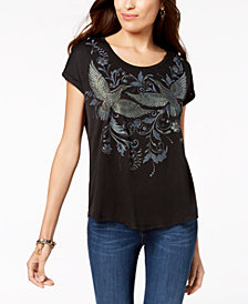 Style & Co Printed Scoop-Neck T-Shirt