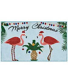 "Nourison Flamingo Holiday 18"" x 30"" Accent Rug"