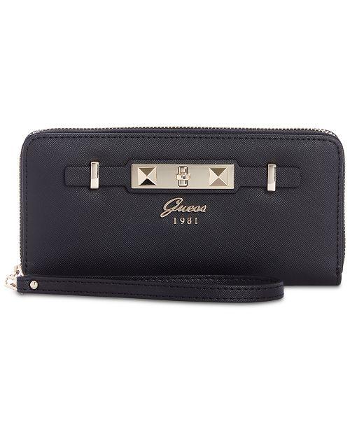 c10aecd9ccb9 GUESS Cherie Zip-Around Wristlet & Reviews - Handbags & Accessories ...