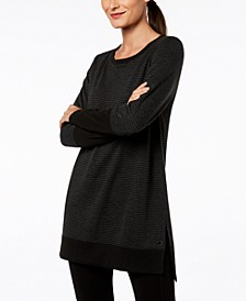 Long-Sleeve Tonal-Stripe Tunic, Created for Macy's