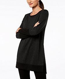 Ideology Long-Sleeve Tonal-Stripe Tunic, Created for Macy's