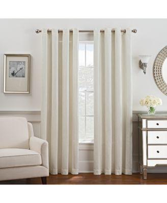 "Antonia Chenille Stripe 52"" x 108"" Grommet Window Panel"