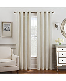 "Keeco Antonia Chenille Stripe 52"" x 108"" Grommet Window Panel"