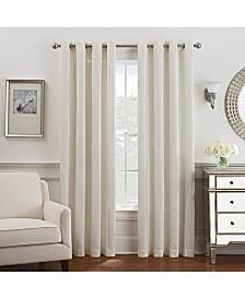 Keeco Antonia Chenille Stripe Grommet Window Panel Collection
