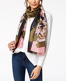 I.N.C. Big Rose Oblong Scarf, Created for Macy's
